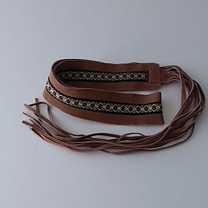 LEI Suede Leather Belt